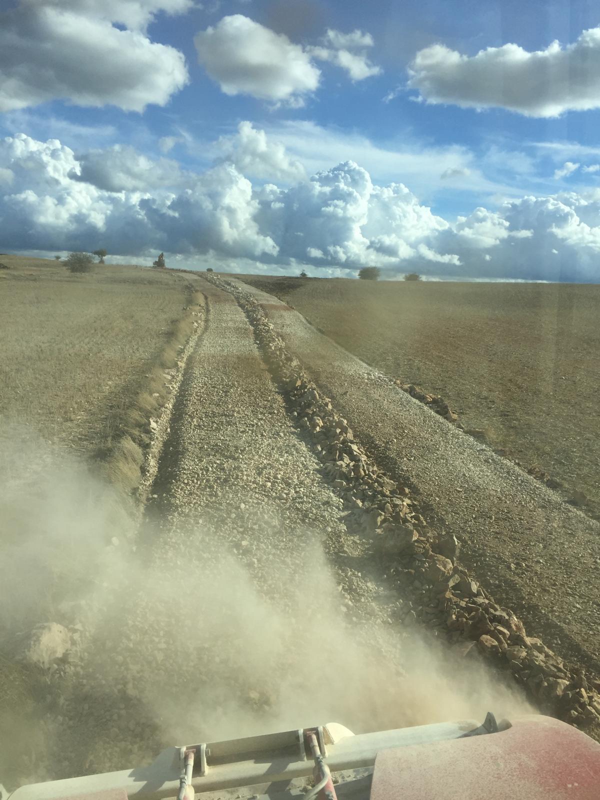 Rehabilitación camino en Alpanseque ( Soria )