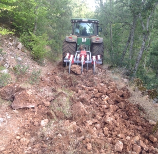 Rehabilitación camino en Sedano (Burgos)
