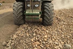 Trituración guijarro en planta de hormigones -  Almazán (Soria)